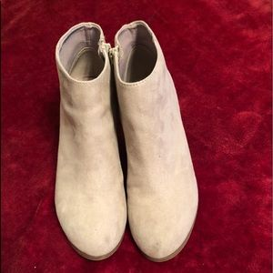 Old Navy grey suede booties size 8
